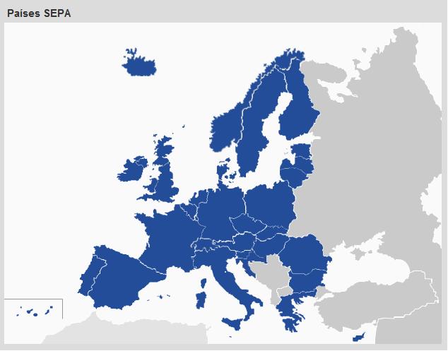 Mapa SEPA